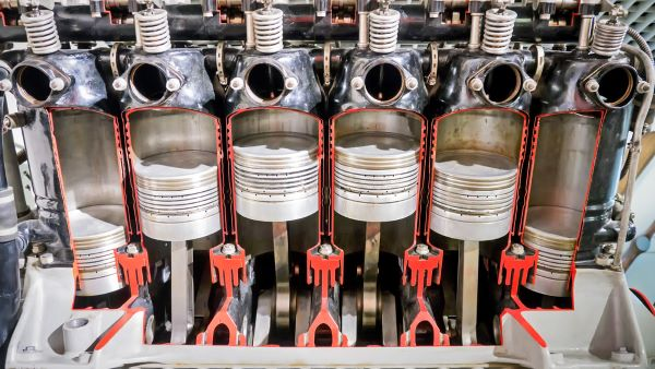 Cylinders of an engine